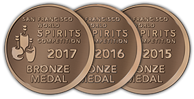 San Francisco World Spirits Competition - Bronze - 2017 | 2016 | 2015