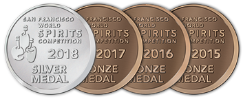 San Francisco World Spirits Competition - Silver - 2018 | Bronze - 2017 | 2016 | 2015